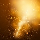 Abstracte gouden en bruine achtergrond Royalty-vrije Stock Afbeeldingen