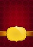 Abstracte gouden etiket en achtergrond Royalty-vrije Stock Afbeeldingen
