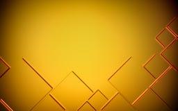 Abstracte gouden geometrische 3D achtergrond render Royalty-vrije Stock Foto