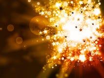 Abstracte gouden Kerstmisachtergrond Stock Foto's