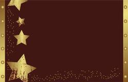 Abstracte gouden Kerstmisster Stock Afbeelding