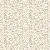 Abstracte gouden krullen op witte achtergrond royalty-vrije illustratie
