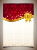 Abstracte gouden lint en achtergrond Royalty-vrije Stock Fotografie