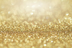 Abstracte gouden schittert achtergrond Viering en Kerstmisachtergrond royalty-vrije stock fotografie
