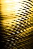 Abstracte Gouden stapel plastic lagen Royalty-vrije Stock Afbeeldingen
