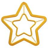 Abstracte gouden ster Royalty-vrije Stock Afbeeldingen