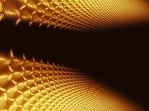 Abstracte gouden technologieachtergrond - digitaal geproduceerd beeld royalty-vrije illustratie