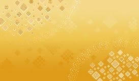 Abstracte gouden vierkante achtergrond Royalty-vrije Stock Afbeelding