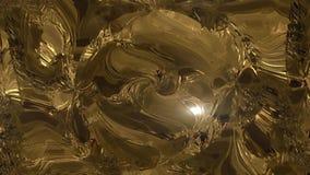 Abstracte gouden vloeistof Gouden golfachtergrond Gouden achtergrond Gouden textuur Lava, noga, karamel, amber, honing, olie vector illustratie