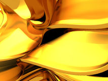 Abstracte gouden vlotte lijnen vloeibare achtergrond Royalty-vrije Stock Foto
