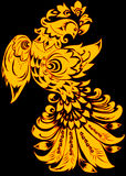 Abstracte gouden vogel Royalty-vrije Stock Fotografie