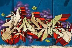 Abstracte Graffiti Royalty-vrije Stock Afbeelding