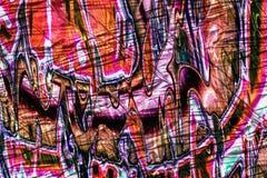 Abstracte graffiti zoals achtergrondtextuur in roze, wit en rood Royalty-vrije Stock Fotografie
