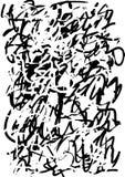 Abstracte grafiek grunge zwarte textuur van strepen en slagen vector illustratie