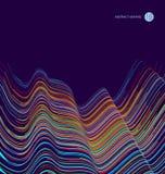 Abstracte grafiek, Technologische betekenis vectorillustratie stock illustratie