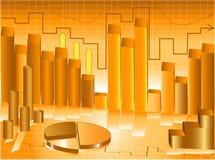 Abstracte grafiekpresentatie Stock Foto