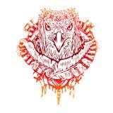 Abstracte grafische gekleurde adelaar, druk Royalty-vrije Stock Foto