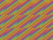 Abstracte grafische gekleurde die vierkanten als achtergrond in diagonale Web van drie stukken worden gestapeld Royalty-vrije Stock Afbeelding