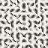 Abstracte grafische naadloze achtergrond met de kruising van lijnen, strepen, kleine elementen Royalty-vrije Stock Afbeeldingen