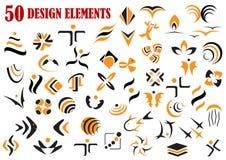 Abstracte grafische ontwerpelementen en symbolen Royalty-vrije Stock Foto's