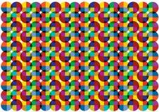 Abstracte grappige kleurrijke cirkelsachtergrond Royalty-vrije Stock Fotografie