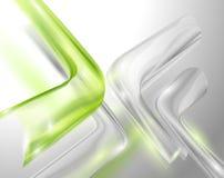 Abstracte grijze achtergrond met groene elementen Royalty-vrije Stock Afbeeldingen