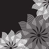 Abstracte grijze bloemen. Stock Foto's