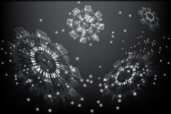 Abstracte grijze en donkere cirkeltechnologie Royalty-vrije Stock Foto