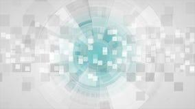 Abstracte grijze futuristische technologie videoanimatie stock videobeelden