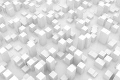 Abstracte grijze stad Stock Afbeeldingen