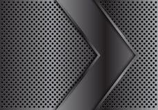Abstracte grijze van het de cirkelnetwerk van de pijloverlapping van de het achtergrond ontwerp moderne luxe futuristische textuu Royalty-vrije Stock Foto