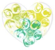 Abstracte groen nam hart toe Stock Foto