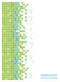 Abstracte groenachtig blauwe vierkanten Stock Afbeelding