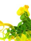 Abstracte groene 3d achtergrond Stock Afbeelding