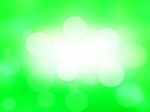 Abstracte groene achtergrond, licht bokeheffect. vakantiekaart. Vector Illustratie
