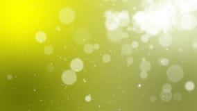 Abstracte groene achtergrond met bokeh animatie Met een centrale plaats voor de tekst stock videobeelden