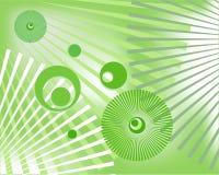 Abstracte groene achtergrond met cirkels stock illustratie