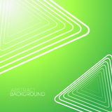 Abstracte Groene Achtergrond met Witte Driehoeken Royalty-vrije Stock Afbeeldingen