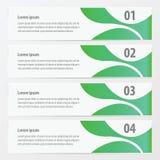 Abstracte groene banner Stock Foto