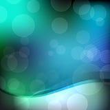 Abstracte groene, blauwe en zwarte achtergrond stock illustratie