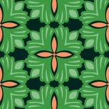 Abstracte groene bloemen het herhalen achtergrond Stock Foto
