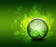 Abstracte groene bloemenachtergrond Royalty-vrije Stock Foto's