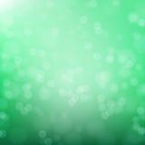 Abstracte groene cirkelbokehachtergrond Royalty-vrije Illustratie