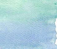 Abstracte groene de texturenachtergrond van de tonenwaterverf Stock Foto