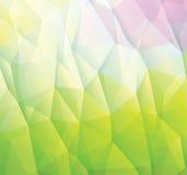 Abstracte groene die achtergrond van driehoeken wordt gemaakt vector illustratie