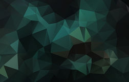 Abstracte groene driehoeksachtergrond Stock Foto