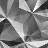 Abstracte groene driehoeksachtergrond Stock Afbeelding