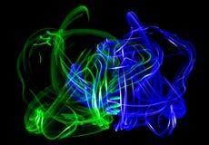 Abstracte Groene en Blauwe Ameboas Stock Fotografie