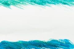 Abstracte groene en blauwe waterverftextuur royalty-vrije stock afbeelding