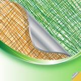 Abstracte groene en bruine lijnenachtergrond Royalty-vrije Stock Afbeeldingen